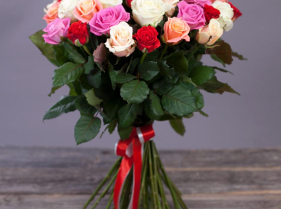51 разноцветная роза (3)